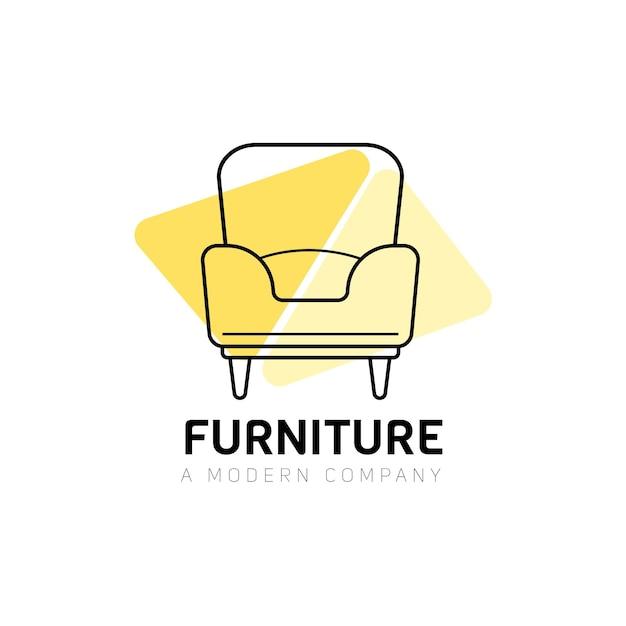 Logo di mobili con poltrona Vettore gratuito