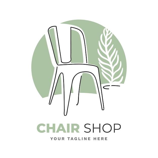 Мебель логотип Premium векторы