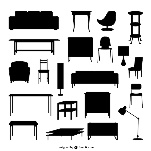 Furniture Outlines Vector Free Download