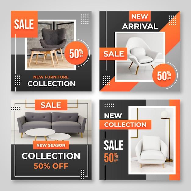 Продажа мебели ig post collection с фото Premium векторы