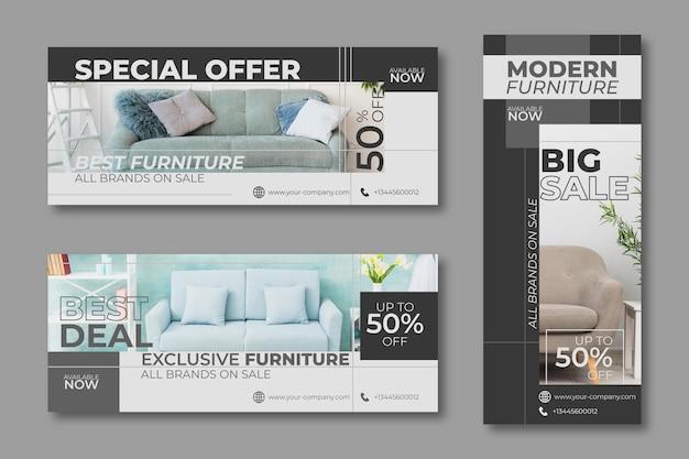 家具特別セールバナーデザイン 無料ベクター
