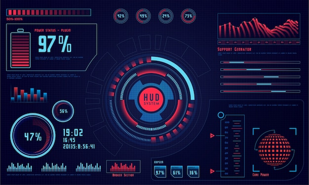 Future Economics Abstract Hud Graph Vector Premium Download