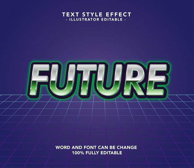 Future font Premium Vector