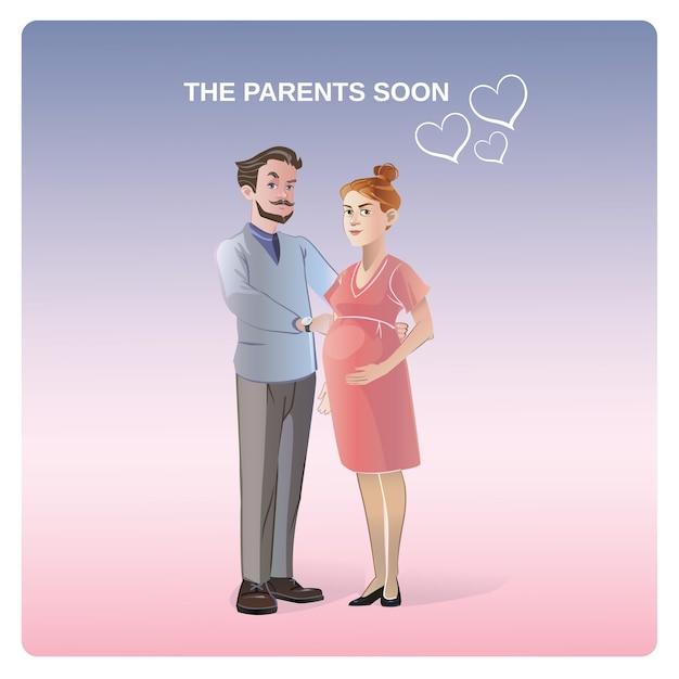 将来の両親のコンセプト 無料ベクター