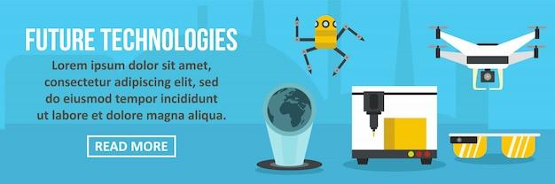 Future technologies banner horizontal concept Premium Vector