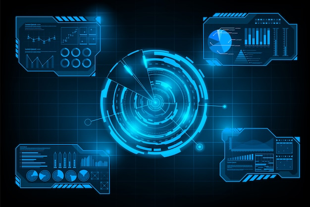Futuristic abstract background Premium Vector