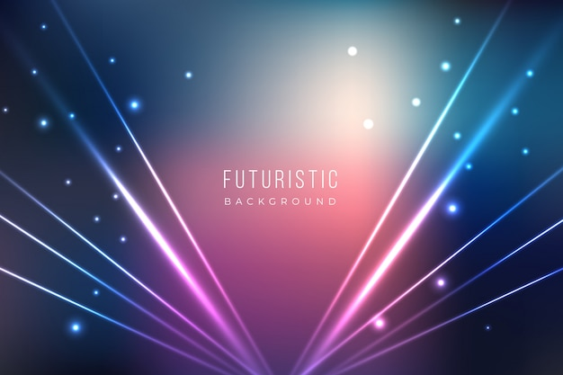 Futuristic background with light effects Free Vector