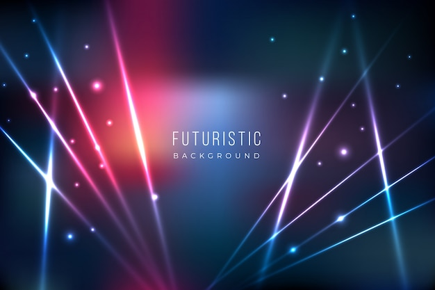 Futuristic background with lights effect Free Vector