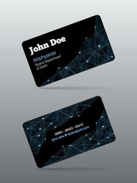 Futuristic business card Vector | Free Download