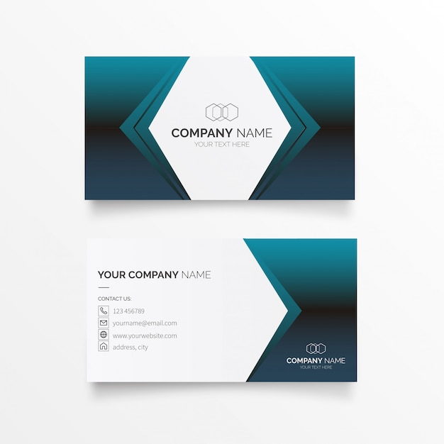 Futuristic Business Card Vector Free Download