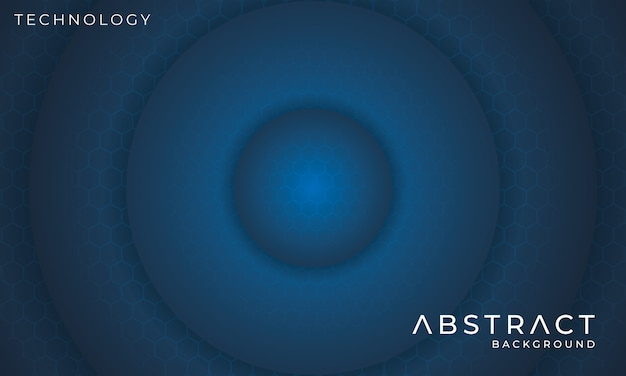 Futuristic circular technology background with hexagon light effect Premium Vector