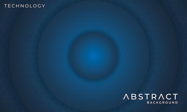 Футуристический круговой технологии фон с шестиугольным световым эффектом Premium векторы