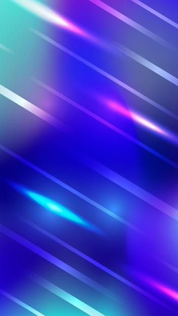 Futuristic colorfuol neon lights blurred mobile wallpaper Free Vector
