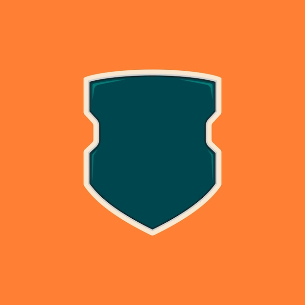 Futuristic Cops Blank Shield Badge Template Vector