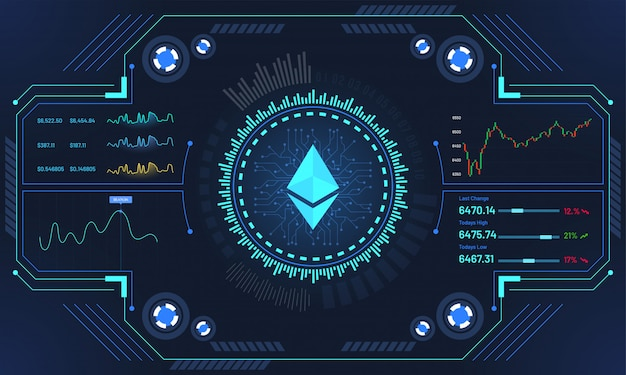 Futuristic cryptocurrency exchange platform. | Premium Vector