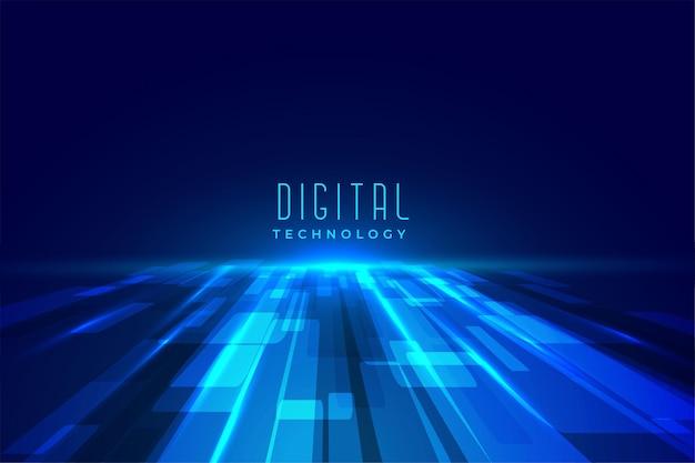 미래형 디지털 플로어 기술 관점 무료 벡터