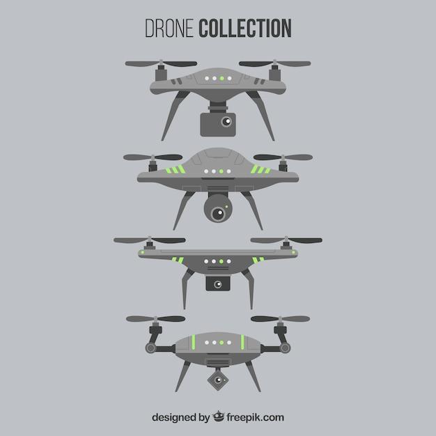 Futuristic drone collection