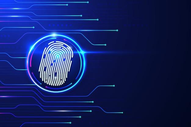 Futuristic fingerprint background Free Vector