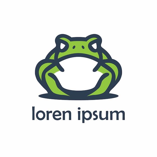 Futuristic frog animals logo Premium Vector