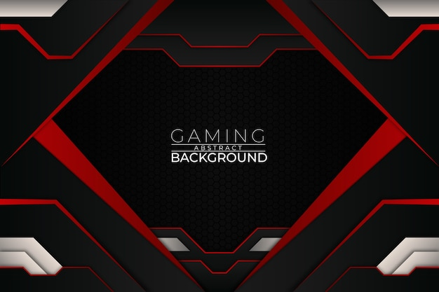Futuristic gaming background red style Premium Vector