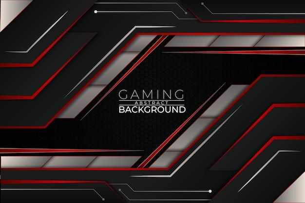 Futuristic gaming background red style Premium Vector