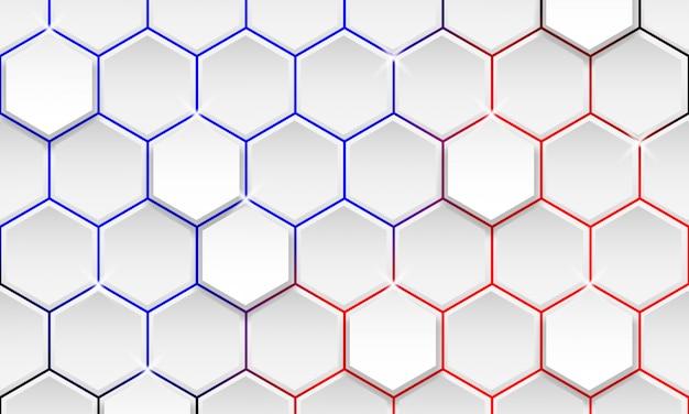 Футуристический геометрический фон, современный шестиугольник фон Premium векторы