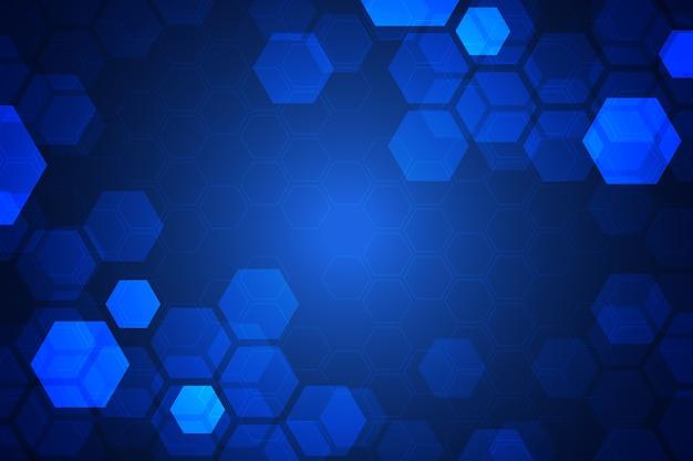 未来的な六角形の背景 無料ベクター
