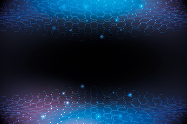 Futuristic hexagonal honeycomb net background Free Vector