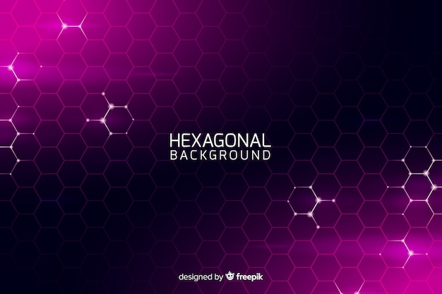 Futuristic hexagonal net background Free Vector