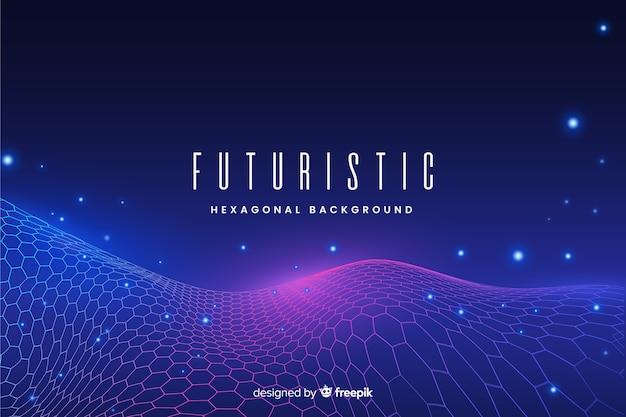 Futuristic hexagonal net background Free Vector