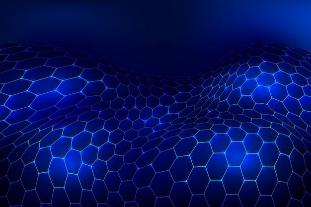 Futuristic hexagonal net wallpaper Free Vector