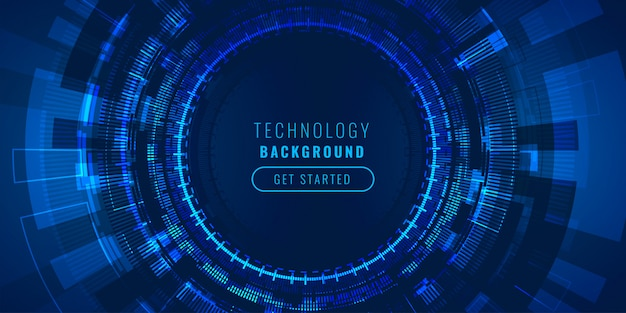 Futuristic high tech lines visualization background concept Free Vector