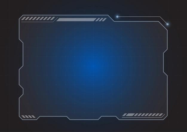 Futuristic hologram monitor background Premium Vector