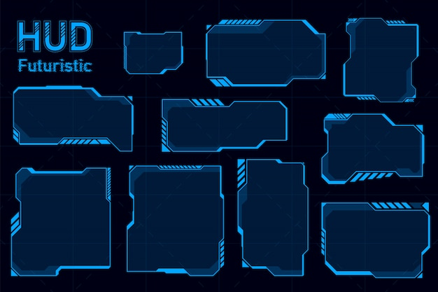 Futuristic hud abstracts Premium Vector