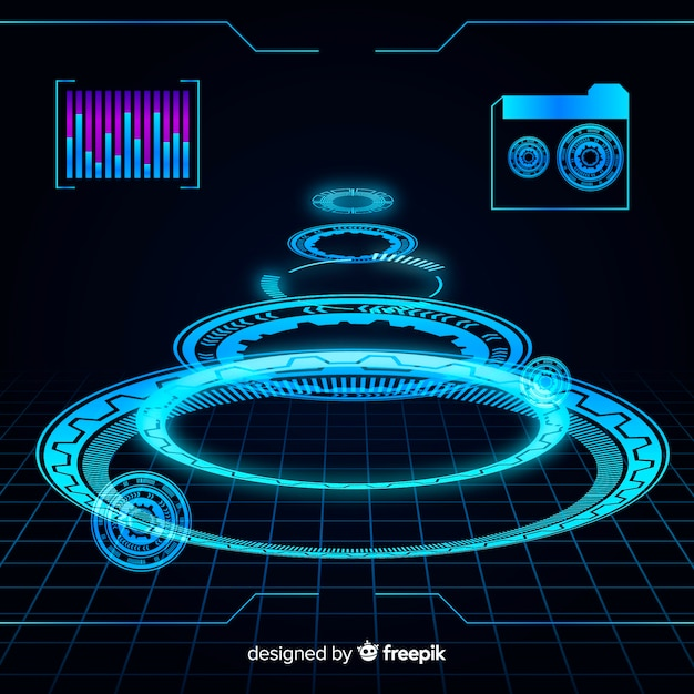 Futuristic hud background Free Vector