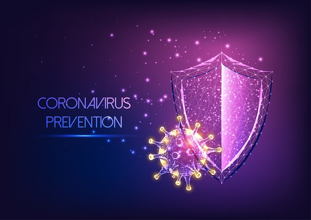 コロナウイルスcovid-19疾患概念からの未来の免疫システム保護 Premiumベクター