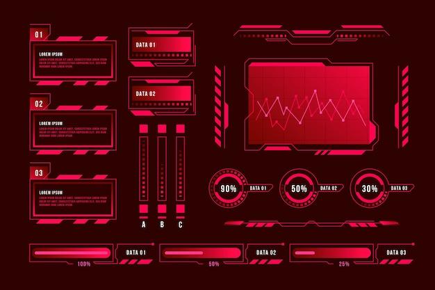 Futuristic infographic concept Free Vector