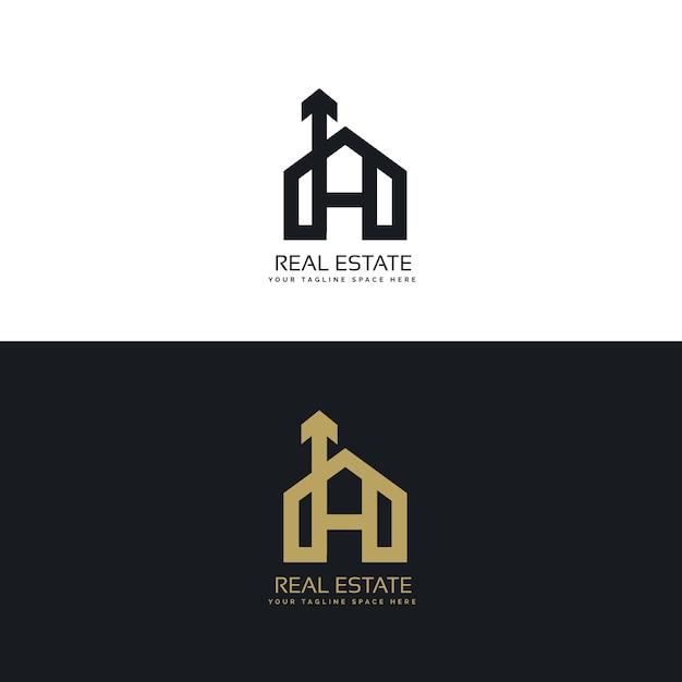 Futuristic real estate logo