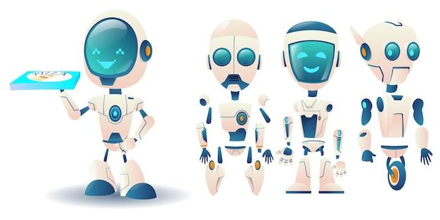 未来のロボットコンストラクター Premiumベクター