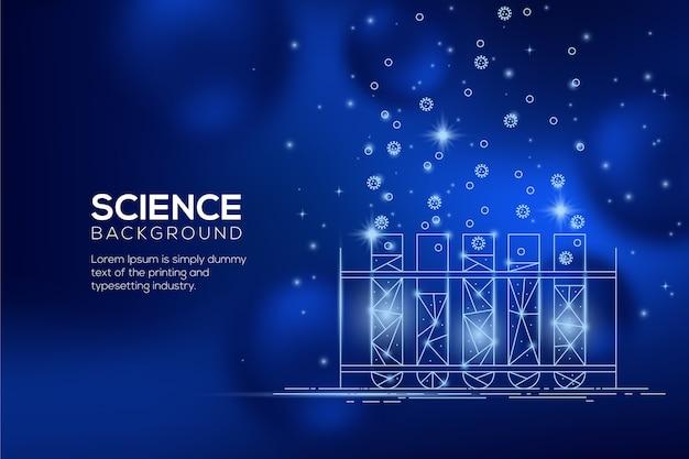 Futuristic science lab background Free Vector