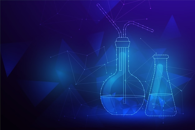 Futuristic science lab background Free Vector