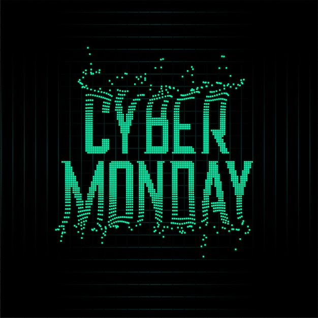 Futuristic style cyber monday particles background Free Vector