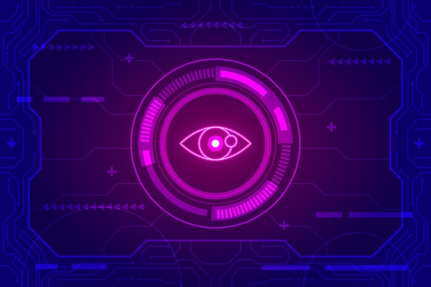 Futuristic technology background Free Vector