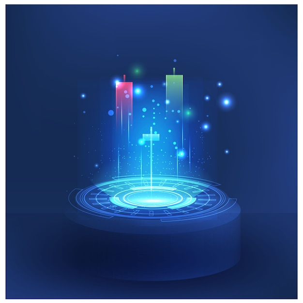 Futuristic technology controls stock market forex trading graph vector futuristic  smart investment technology controlling protection system global network financial investment economic trends Premium Vector
