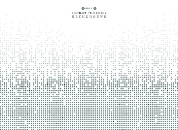 Futuristic technology in dark gray square pattern Premium Vector