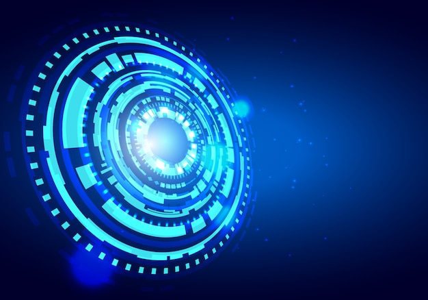 Futuristic technology hud vector background. big data concept background. Premium Vector