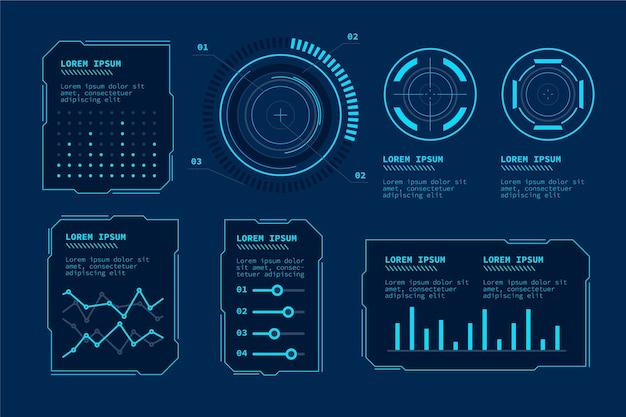 미래 기술 Infographic 프리미엄 벡터