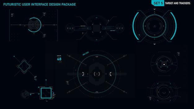 Futuristic user interface element Premium Vector
