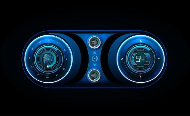 Futuristic user interface. hud ui. Premium Vector
