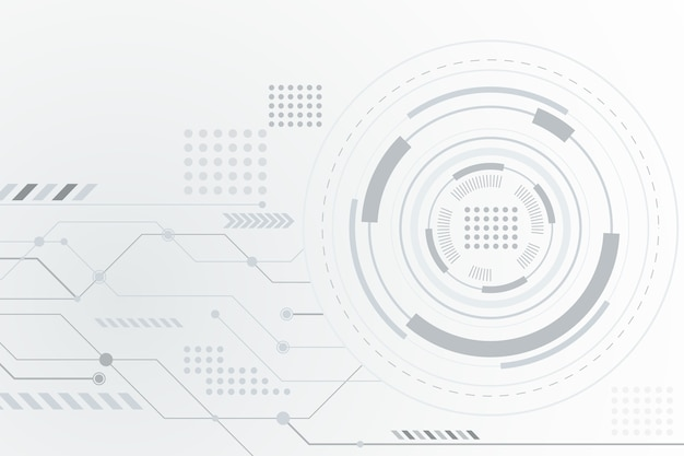 Futuristic white technology background Free Vector